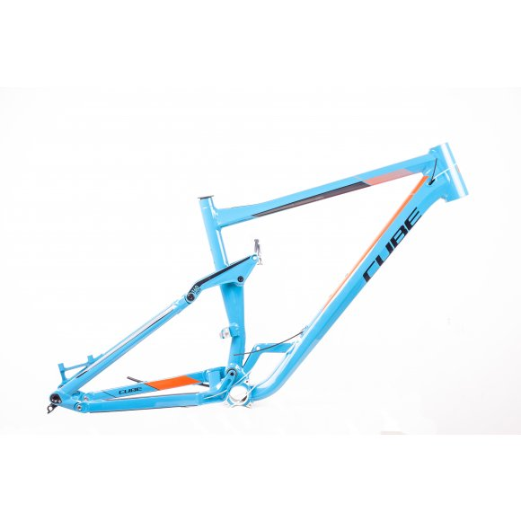 РАМКА 27.5 CUBE STEREO 160 HPA TM BLUE ORAGNE 20