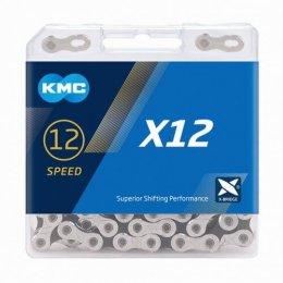 ВЕРИГА KMC X12 SILVER BLACK 12S 126L