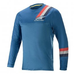 ДЖЪРСИ LS ALPINESTARS ALPS 4.0 MELANGE BLU RED