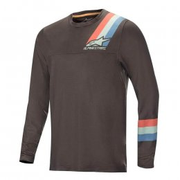 ДЖЪРСИ LS ALPINESTARS ALPS 4.0 MELANGE GRY RED