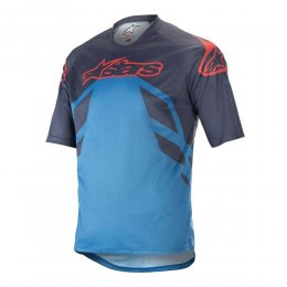 ДЖЪРСИ SS ALPINESTARS RACER V2 NAVY BLU RED