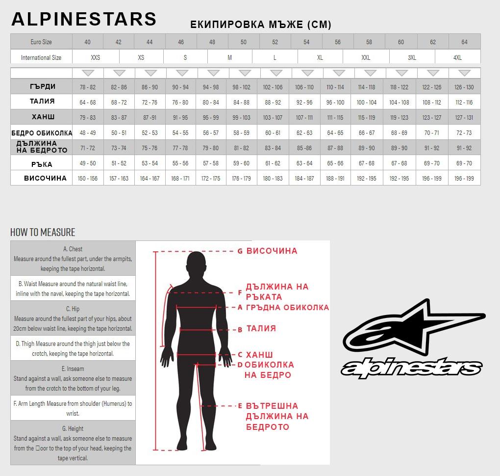 Alpinestars размери